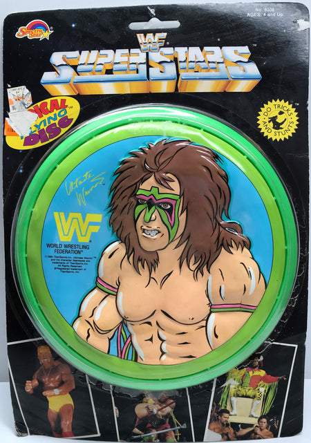 TAS038135 - 1990 Spectra Star WWF WWE Radical Flying Disc - Ultimate Warrior