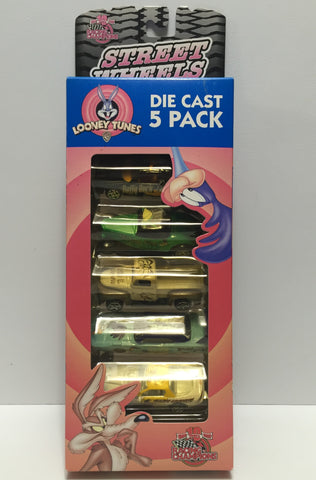 (TAS010813) - 1999 Racing Champions Die-Cast Looney Tunes 5 Pack