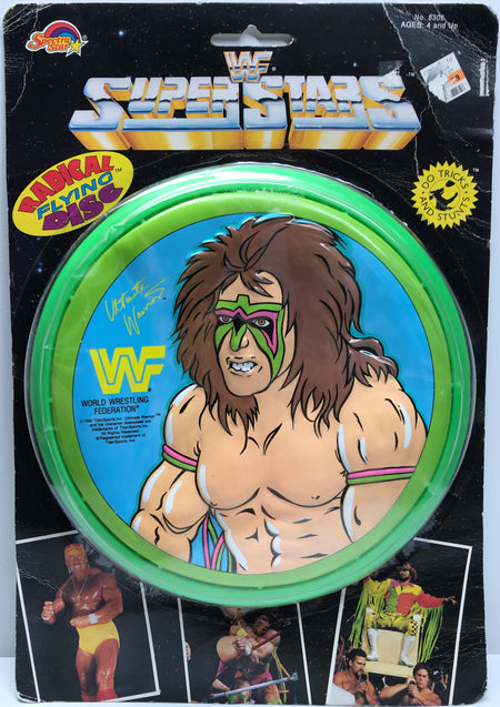 TAS038138 - 1990 Spectra Star WWF The Ultimate Warrior Radical Flying Disc
