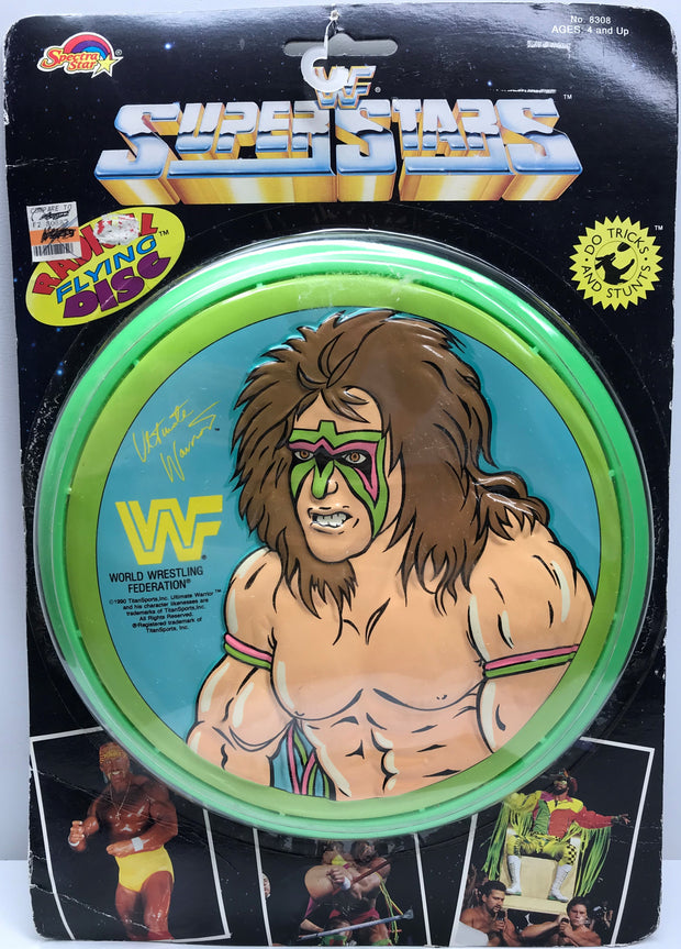 TAS038139 - 1990 Spectra Star WWF Radical Flying Disc Frisbee - Ultimate Warrior
