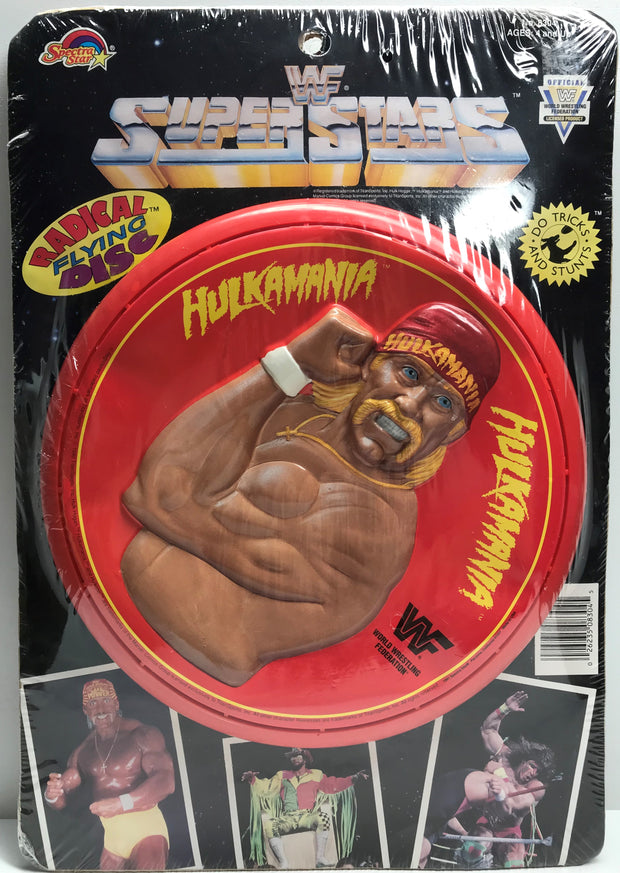 TAS038142 - 1990 Spectra Star WWF WWE Radical Flying Disc - Hulk Hogan