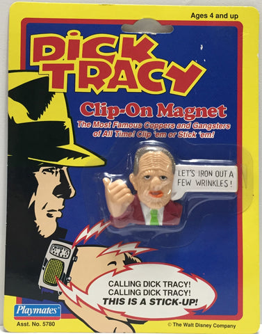 TAS037609 - 1990 Playmates Dick Tracy Clip-On Magnet Pruneface