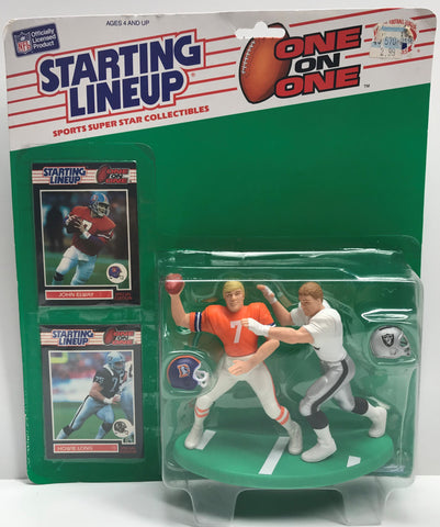 TAS039047 - 1989 Kenner Starting Lineup NFL One on One Elway Long