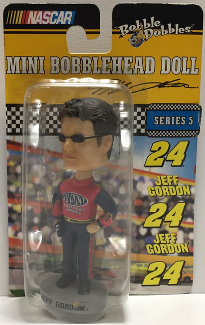 TAS037628 - 2003 Bobble Dobbles Nascar Mini Bobble Head Jeff Gordon