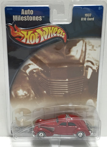 TAS037648 - 2001 Mattel Hot Wheels Die-Cast 1937 810 Cord Auto Milestones