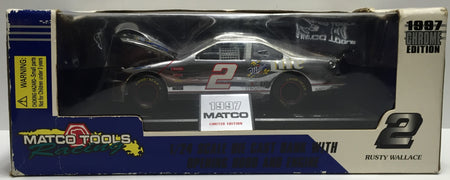 TAS037663 - 1997 Racing Champions Chrome Die-Cast 1/24 Scale Rusty Wallace
