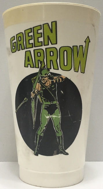 TAS011011 - 1973 Marvel 7-11 Green Arrow Oliver Queen Plastic Drinking Cup