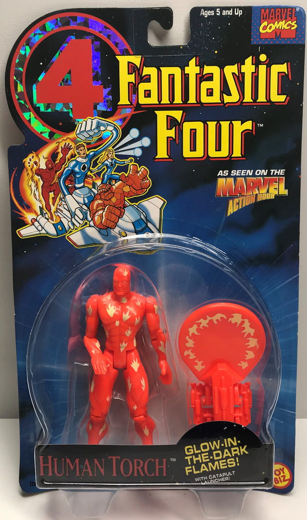 TAS038286 - 1994 Toy Biz Marvel Fantastic Four Action Figure - Human Torch