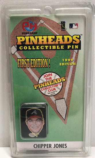 TAS039550 - 1998 Pinheads Collectible Pin First Edition MLB - Chipper Jones