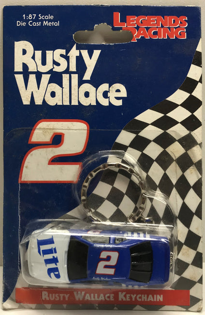 TAS039560 - 1997 Legends Of Racing Nascar Die-Cast Keychain - Rusty Wallace