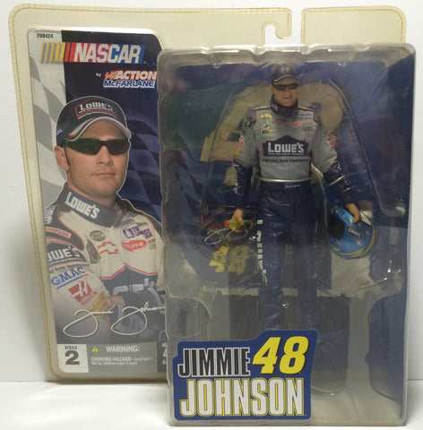 (TAS030060) - 2004 Nascar McFarlane Action Figure - Jimmy Johnson Lowe's, , Action Figure, NASCAR, The Angry Spider Vintage Toys & Collectibles Store  - 1