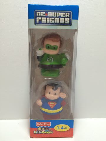 (TAS030123) - 2011 Fisher Price DC Super Friends Superman & Green Lantern, , Action Figure, Superman, The Angry Spider Vintage Toys & Collectibles Store  - 1