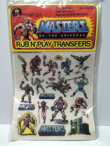 (TAS030200) - 1983 Masters of the Universe Rub N' Play Transfers Colorforms, , Other, MOTU, The Angry Spider Vintage Toys & Collectibles Store  - 1