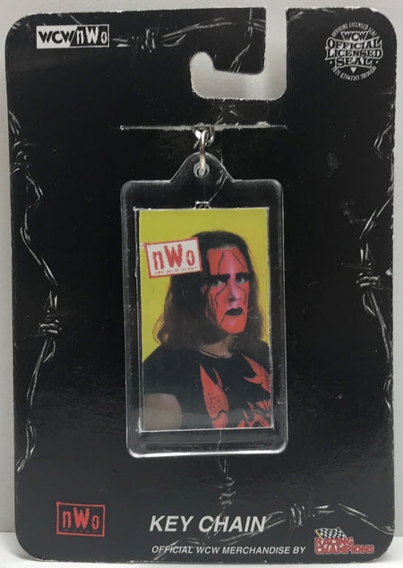 TAS039757 - 1999 Racing Champions WCW Wrestling Plastic Keychain - Sting