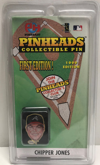 TAS039764 - 1999 Pinheads MLB Collectible Pin - Chipper Jones Atlanta Braves