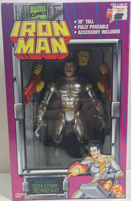"TAS039789 - 1995 Toy Biz Marvel Iron Man 10"" Figure - Tony Stark Techno Suit"