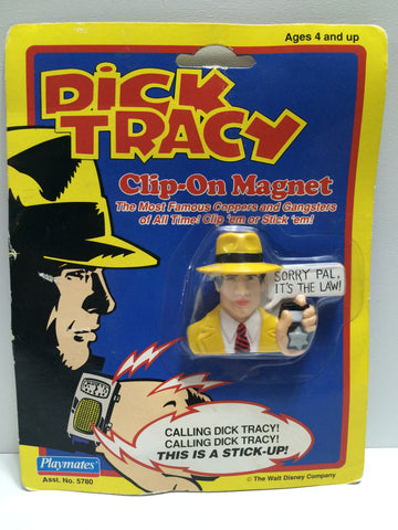 (TAS030368) - 1990 Playmates / Disney Dick Tracy Clip-On Magnet - Dick Tracy, , Magnet, Disney, The Angry Spider Vintage Toys & Collectibles Store  - 1