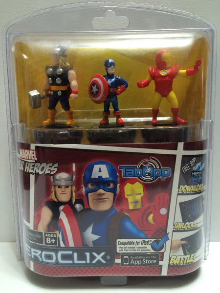(TAS030380) - Marvel Super Heroes HeroClix Tab App Iron Man Thor Captain America, , Action Figure, Marvel Toys, The Angry Spider Vintage Toys & Collectibles Store  - 1