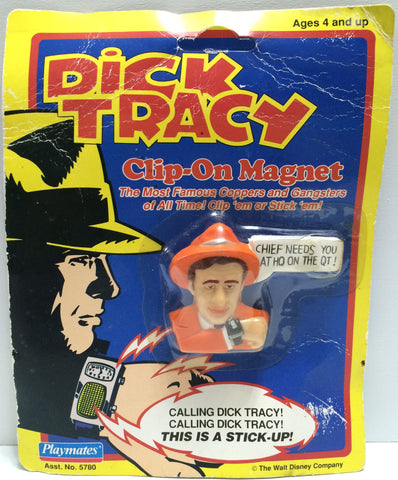 (TAS030429) - 1990 Playmates / Disney Dick Tracy Clip-On Magnet - Sam Catchem, , Magnet, Disney, The Angry Spider Vintage Toys & Collectibles Store  - 1