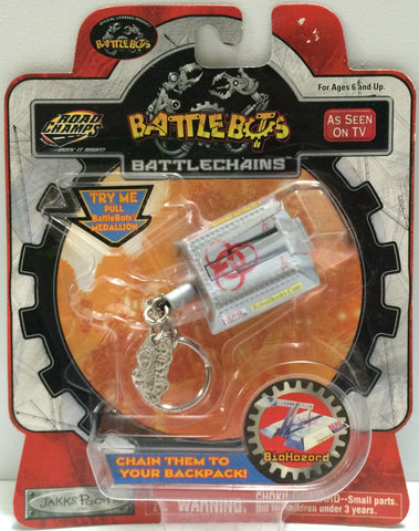(TAS030434) - Road Champs - BattleBots BattleChains - BioHazard Keychain, , Key Chain, n/a, The Angry Spider Vintage Toys & Collectibles Store  - 1