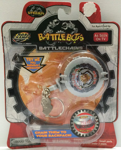 (TAS030435) - Road Champs - BattleBots BattleChains - Mouler Keychain, , Key Chain, n/a, The Angry Spider Vintage Toys & Collectibles Store  - 1