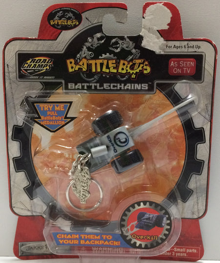 (TAS030436) - 2001 Road Champs BattleBots BattleChains - OverKill Keychain, , Key Chain, n/a, The Angry Spider Vintage Toys & Collectibles Store  - 1
