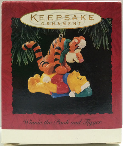(TAS030449) - Hallmark Keepsake Ornament - Winnie The Pooh and Tigger, , Ornament, Disney, The Angry Spider Vintage Toys & Collectibles Store  - 1