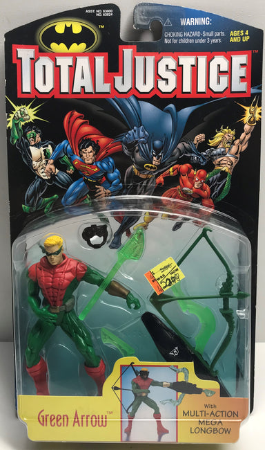 TAS040014 - 1997 Kenner DC Comics Total Justice Batman - Green Arrow Figure