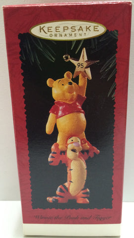(TAS030452) - 1995 Hallmark Keepsake Ornament - Winnie The Pooh and Tigger, , Ornament, Hallmark, The Angry Spider Vintage Toys & Collectibles Store  - 1