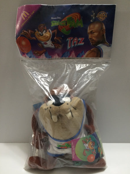 (TAS030453) - 1995 McDonald's Space Jam Looney Tunes - Taz Plush Toy, , Dolls, Looney Tunes, The Angry Spider Vintage Toys & Collectibles Store  - 1