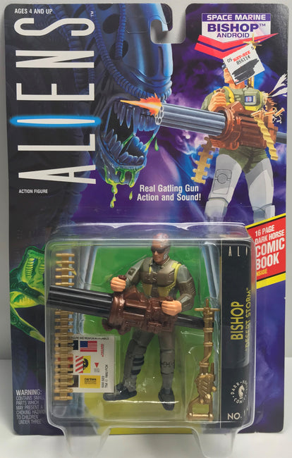 TAS040016 - 1992 Kenner Aliens Action Figure - Space Marine Bishop Android