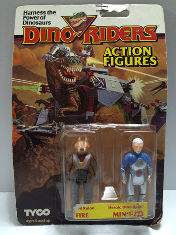 (TAS030455) - 1987 Tyco Dino Riders Action Figure - Evil Rulon Fire & Mind-Zei, , Action Figure, Tyco, The Angry Spider Vintage Toys & Collectibles Store  - 1