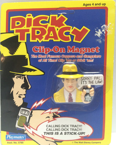 (TAS030557) - 1990 Playmates / Disney Dick Tracy Clip-On Magnet - Dick Tracy, , Magnet, Disney, The Angry Spider Vintage Toys & Collectibles Store  - 1