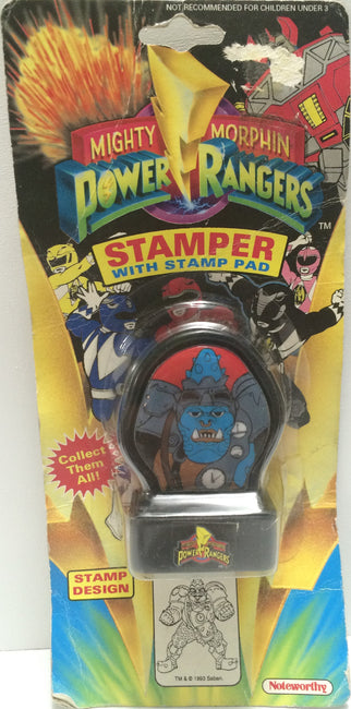 (TAS030563) - 1993 Mighty Morphin Power Rangers Stamper - Squatt, , Stampers, Power Rangers, The Angry Spider Vintage Toys & Collectibles Store  - 1