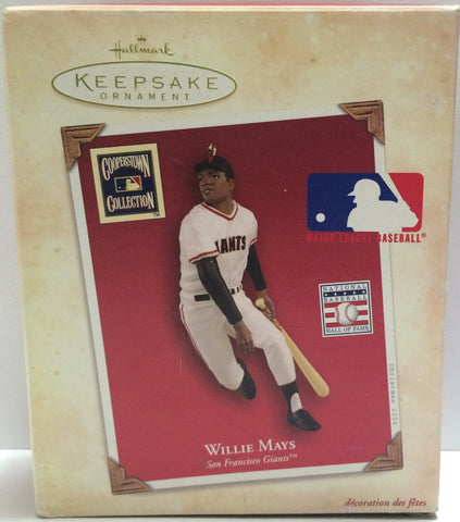 (TAS030611) - 2004 Hallmark Keepsake Ornament - Willie Mays San Francisco Giants, , Ornament, MLB, The Angry Spider Vintage Toys & Collectibles Store  - 1