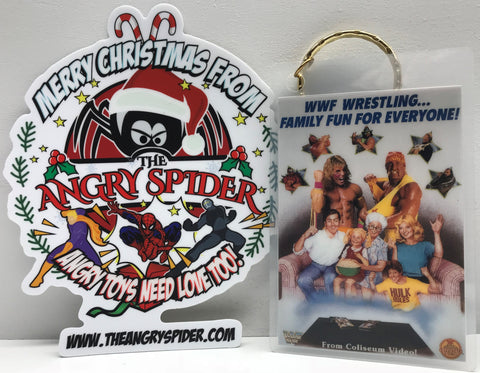TAS038485 - 1991 Titan Sports Coliseum Video WWF WWE Wrestling Keychain