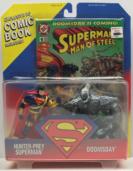 TAS039658 - 1995 Kenner Superman Hunter-Prey vs Doomsday