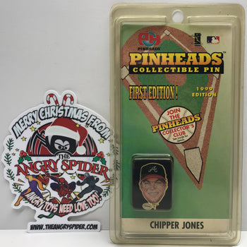 TAS039895 - 1998 Pinheads Collectible Lapel Pin MLB - Chipping Jones