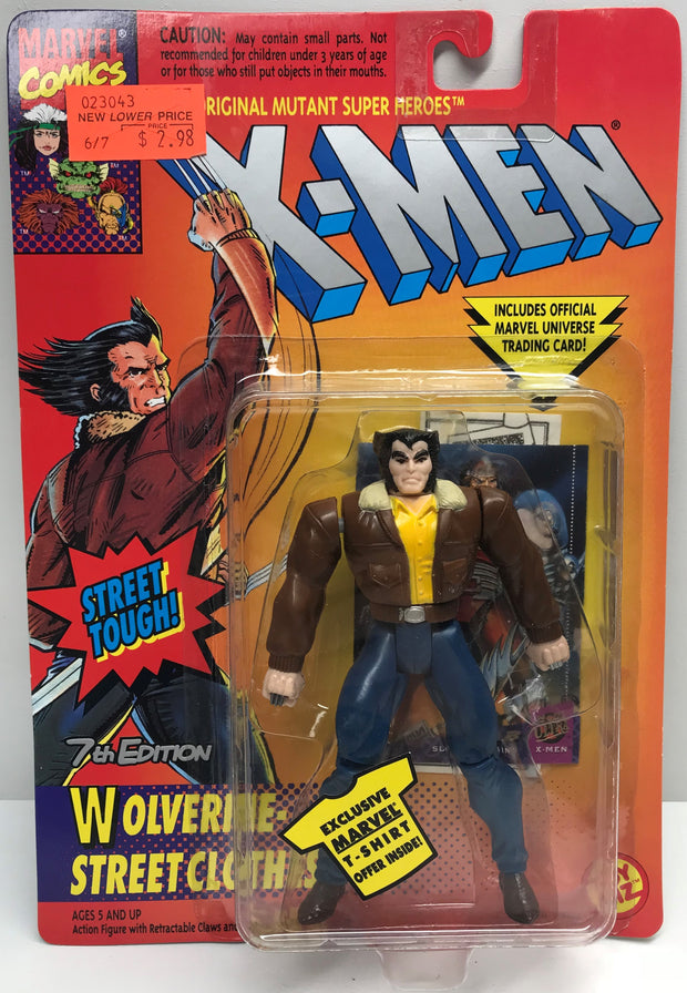 TAS039214 - 1994 Toy Biz X-Men Street Tough Wolverine Street Clothes
