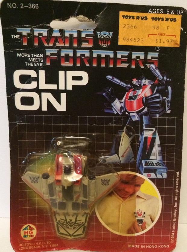 (TAS031182) - 1984 HG Toys - The Transformers  Clip On - Starscream, , Action Figure, Transformers, The Angry Spider Vintage Toys & Collectibles Store  - 1