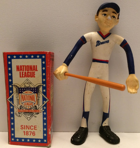 (TAS031242) - 1981 Amscan Inc. - MLB Baseball Bendable Atlanta Braves Figure, , Action Figure, MLB, The Angry Spider Vintage Toys & Collectibles Store  - 1