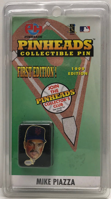 TAS039820 - 1998 Pinheads Collectible Pin MLB New York Mets - Mike Piazza