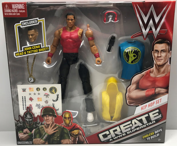 TAS038497 - 2015 Mattel Create A WWE Superstar Hip Hop Set John Cena