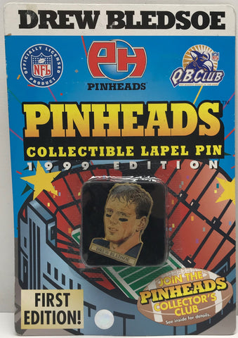 TAS038500 - 1998 Pinheads Collectible Label Pin NFL Drew Bledsoe