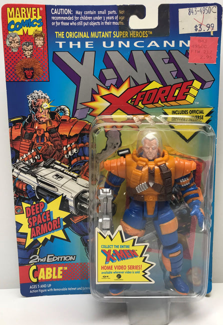 TAS040197 - 1993 Toy Biz Marvel X-Men X-Force Deep Space Armor! Cable
