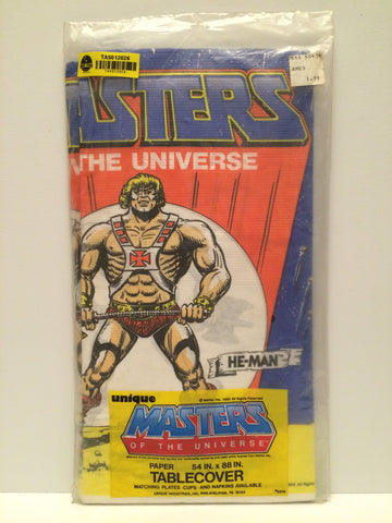(TAS012026) - 1983 Mattel Masters of the Universe He-Man Table Cover, , Party, MOTU, The Angry Spider Vintage Toys & Collectibles Store  - 1