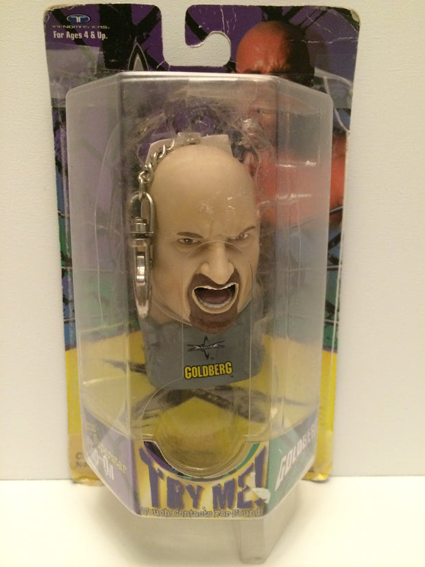 (TAS030742) - WWE WWF WCW NWO LJN Wrestling Clip On Key Chain - Bill Goldberg, , Key Chain, Wrestling, The Angry Spider Vintage Toys & Collectibles Store  - 1