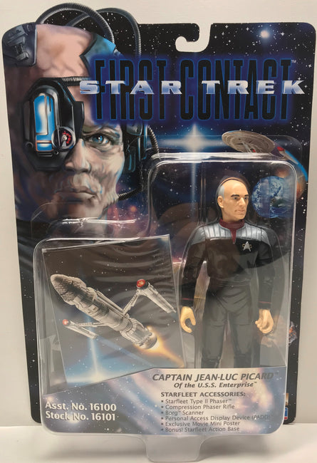 TAS040343 - 1996 Playmates Toys Star Trek First Contact Captain Jean-Luc Picard