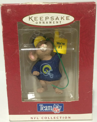(TAS014192) - 1996 Hallmark Keepsake Ornament St. Louis Rams, , Ornament, Hallmark, The Angry Spider Vintage Toys & Collectibles Store  - 1