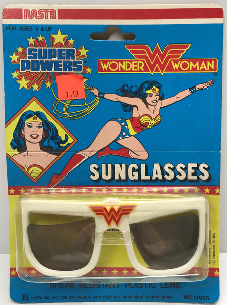 TAS038725 - 1984 Nasta Wonder Woman Super Powers White Sunglasses